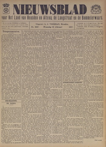 Nieuwsblad het land van Heusden en Altena de Langstraat en de Bommelerwaard 1917-02-21