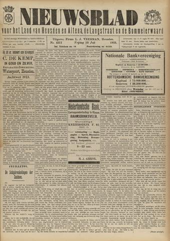 Nieuwsblad het land van Heusden en Altena de Langstraat en de Bommelerwaard 1923-07-13