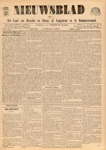 Nieuwsblad het land van Heusden en Altena de Langstraat en de Bommelerwaard 1905-09-02
