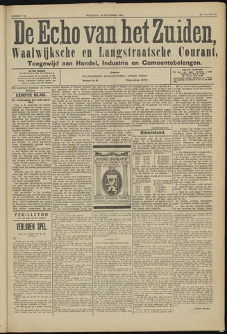 Echo van het Zuiden 1923-09-19