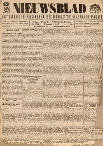 Nieuwsblad het land van Heusden en Altena de Langstraat en de Bommelerwaard 1925-10-07