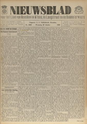 Nieuwsblad het land van Heusden en Altena de Langstraat en de Bommelerwaard 1920-10-27