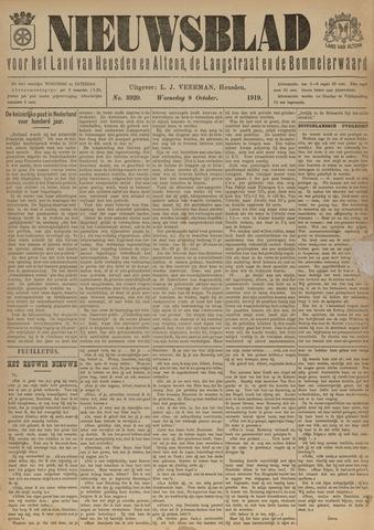 Nieuwsblad het land van Heusden en Altena de Langstraat en de Bommelerwaard 1919-10-08