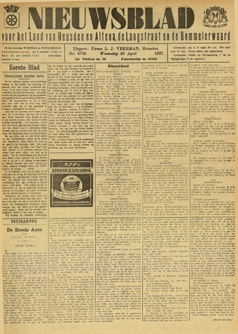 Nieuwsblad het land van Heusden en Altena de Langstraat en de Bommelerwaard 1927-04-20