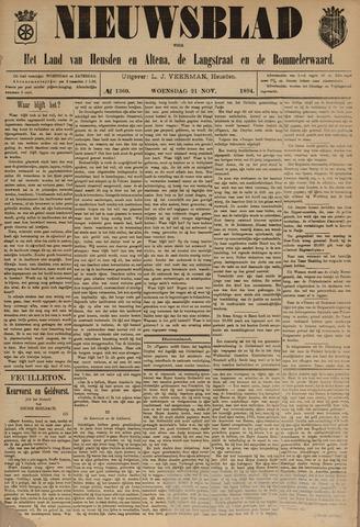 Nieuwsblad het land van Heusden en Altena de Langstraat en de Bommelerwaard 1894-11-21