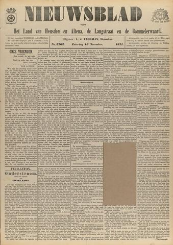 Nieuwsblad het land van Heusden en Altena de Langstraat en de Bommelerwaard 1911-11-18