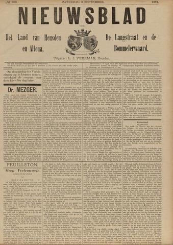 Nieuwsblad het land van Heusden en Altena de Langstraat en de Bommelerwaard 1887-09-03