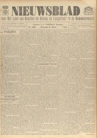Nieuwsblad het land van Heusden en Altena de Langstraat en de Bommelerwaard 1918-03-27
