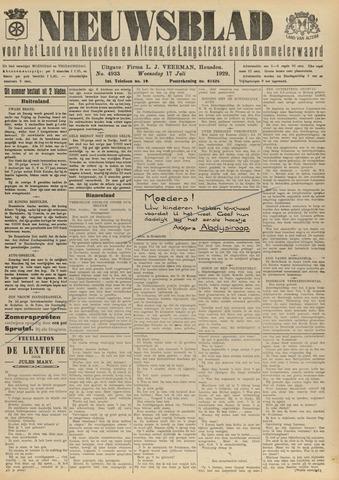 Nieuwsblad het land van Heusden en Altena de Langstraat en de Bommelerwaard 1929-07-17