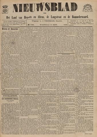 Nieuwsblad het land van Heusden en Altena de Langstraat en de Bommelerwaard 1899-09-27