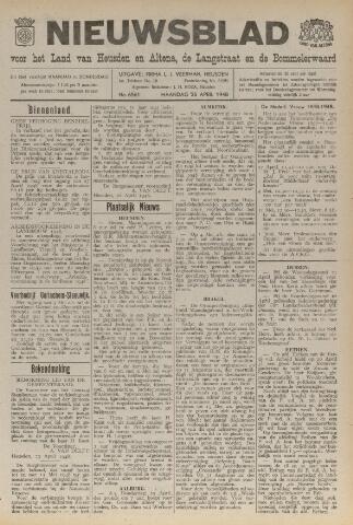 Nieuwsblad het land van Heusden en Altena de Langstraat en de Bommelerwaard 1948-04-26