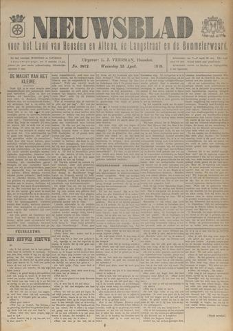 Nieuwsblad het land van Heusden en Altena de Langstraat en de Bommelerwaard 1919-04-23