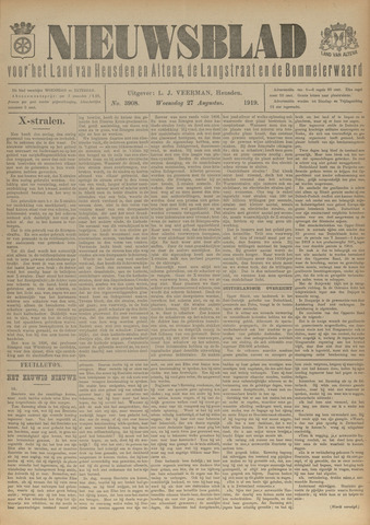 Nieuwsblad het land van Heusden en Altena de Langstraat en de Bommelerwaard 1919-08-27