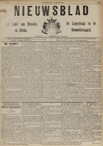 Nieuwsblad het land van Heusden en Altena de Langstraat en de Bommelerwaard 1892-01-06