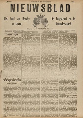 Nieuwsblad het land van Heusden en Altena de Langstraat en de Bommelerwaard 1888-12-19