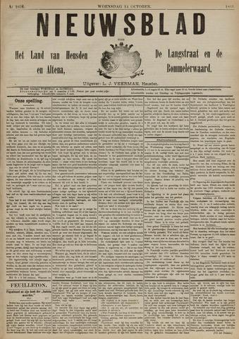 Nieuwsblad het land van Heusden en Altena de Langstraat en de Bommelerwaard 1891-10-14