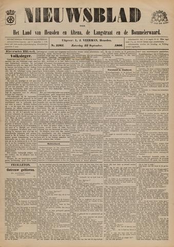Nieuwsblad het land van Heusden en Altena de Langstraat en de Bommelerwaard 1906-09-22