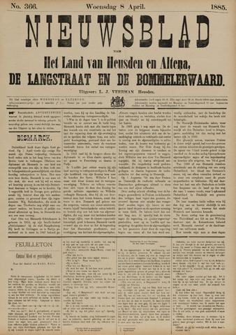 Nieuwsblad het land van Heusden en Altena de Langstraat en de Bommelerwaard 1885-04-08