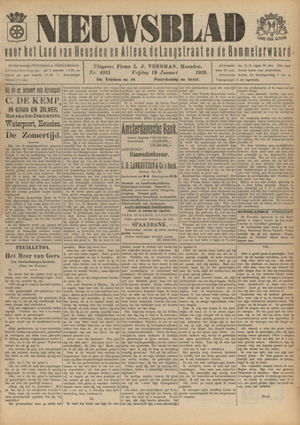 Nieuwsblad het land van Heusden en Altena de Langstraat en de Bommelerwaard 1923-01-19