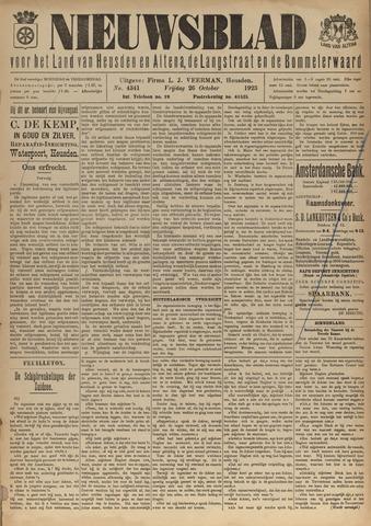 Nieuwsblad het land van Heusden en Altena de Langstraat en de Bommelerwaard 1923-10-26