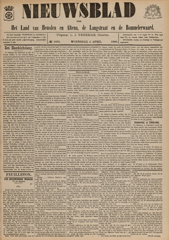 Nieuwsblad het land van Heusden en Altena de Langstraat en de Bommelerwaard 1900-04-04