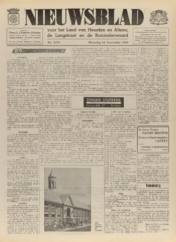 Nieuwsblad het land van Heusden en Altena de Langstraat en de Bommelerwaard 1949-11-14