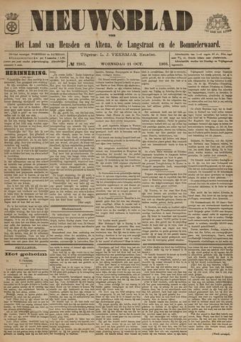 Nieuwsblad het land van Heusden en Altena de Langstraat en de Bommelerwaard 1903-10-21