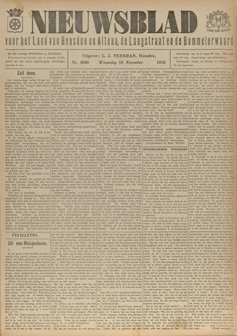Nieuwsblad het land van Heusden en Altena de Langstraat en de Bommelerwaard 1919-11-12