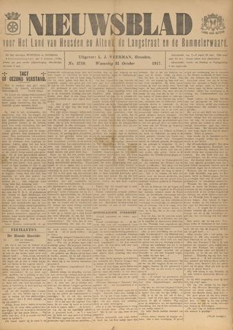 Nieuwsblad het land van Heusden en Altena de Langstraat en de Bommelerwaard 1917-10-31