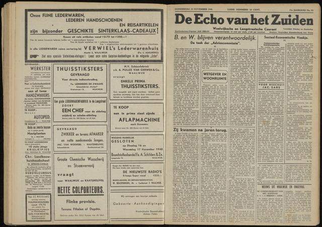Echo van het Zuiden 1948-11-18