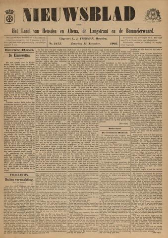 Nieuwsblad het land van Heusden en Altena de Langstraat en de Bommelerwaard 1905-11-11