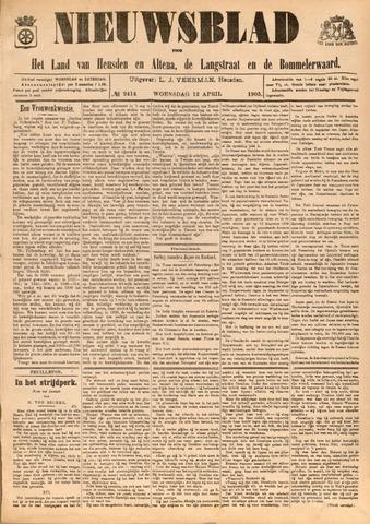 Nieuwsblad het land van Heusden en Altena de Langstraat en de Bommelerwaard 1905-04-12