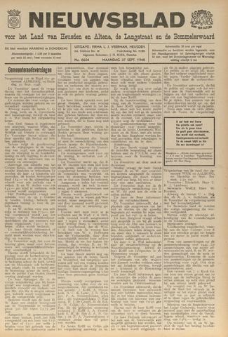 Nieuwsblad het land van Heusden en Altena de Langstraat en de Bommelerwaard 1948-09-27