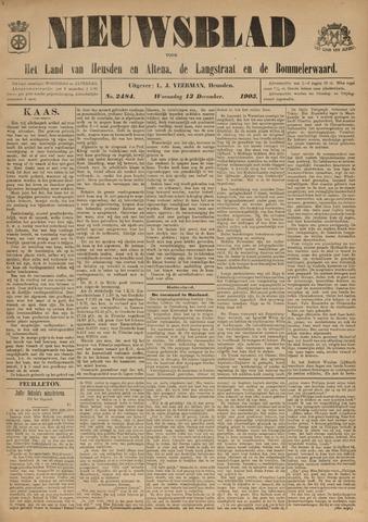Nieuwsblad het land van Heusden en Altena de Langstraat en de Bommelerwaard 1905-12-13