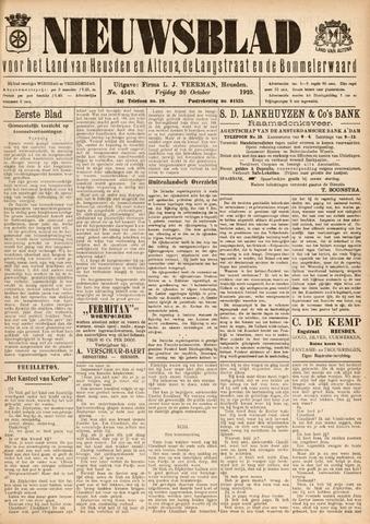 Nieuwsblad het land van Heusden en Altena de Langstraat en de Bommelerwaard 1925-10-30