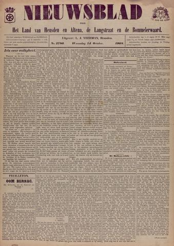 Nieuwsblad het land van Heusden en Altena de Langstraat en de Bommelerwaard 1908-10-14