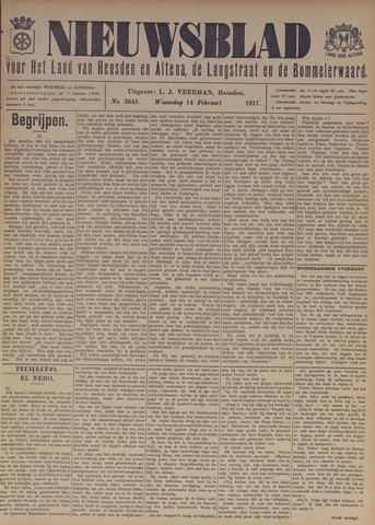 Nieuwsblad het land van Heusden en Altena de Langstraat en de Bommelerwaard 1917-02-14