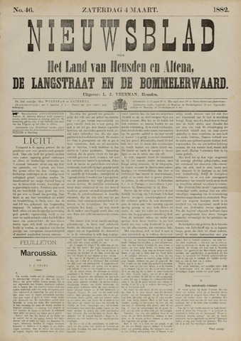 Nieuwsblad het land van Heusden en Altena de Langstraat en de Bommelerwaard 1882-03-04