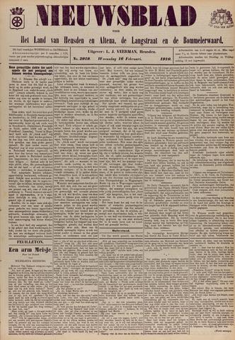 Nieuwsblad het land van Heusden en Altena de Langstraat en de Bommelerwaard 1910-02-16