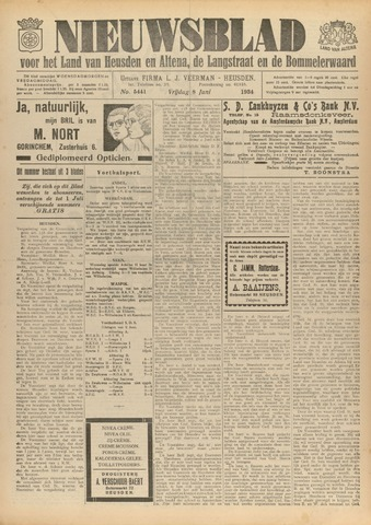 Nieuwsblad het land van Heusden en Altena de Langstraat en de Bommelerwaard 1934-06-08