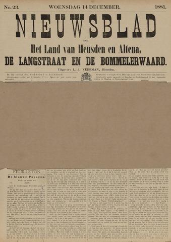 Nieuwsblad het land van Heusden en Altena de Langstraat en de Bommelerwaard 1881-12-14