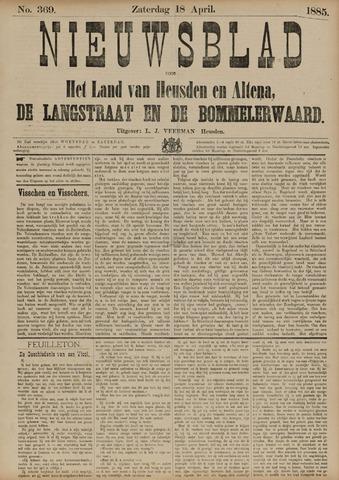 Nieuwsblad het land van Heusden en Altena de Langstraat en de Bommelerwaard 1885-04-18