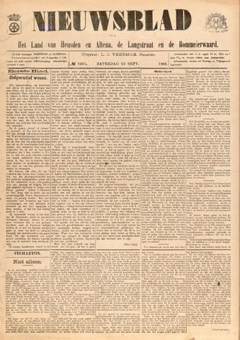 Nieuwsblad het land van Heusden en Altena de Langstraat en de Bommelerwaard 1905-09-23