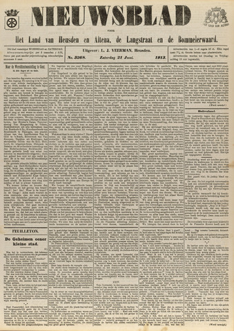 Nieuwsblad het land van Heusden en Altena de Langstraat en de Bommelerwaard 1913-06-21