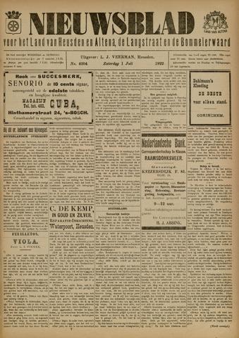 Nieuwsblad het land van Heusden en Altena de Langstraat en de Bommelerwaard 1922-07-01