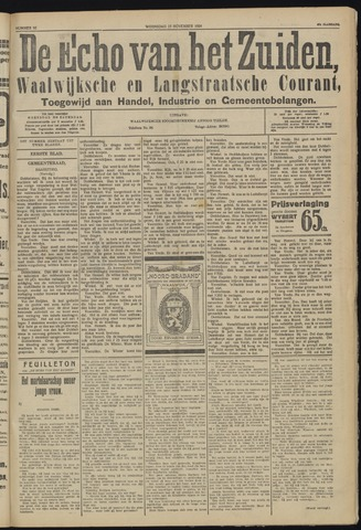 Echo van het Zuiden 1924-11-19