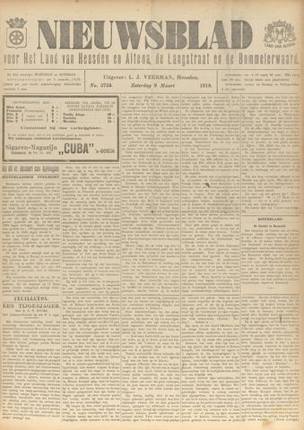 Nieuwsblad het land van Heusden en Altena de Langstraat en de Bommelerwaard 1918-03-09
