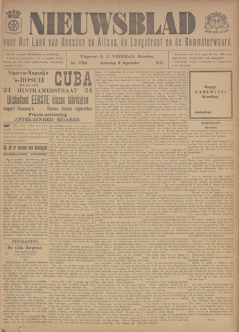 Nieuwsblad het land van Heusden en Altena de Langstraat en de Bommelerwaard 1917-09-08