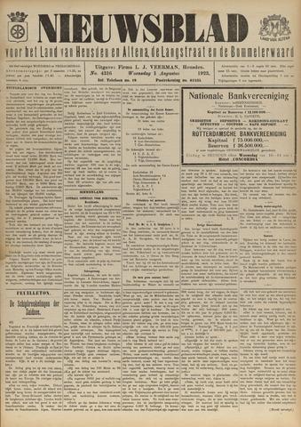 Nieuwsblad het land van Heusden en Altena de Langstraat en de Bommelerwaard 1923-08-01