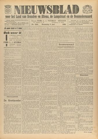 Nieuwsblad het land van Heusden en Altena de Langstraat en de Bommelerwaard 1934-06-06